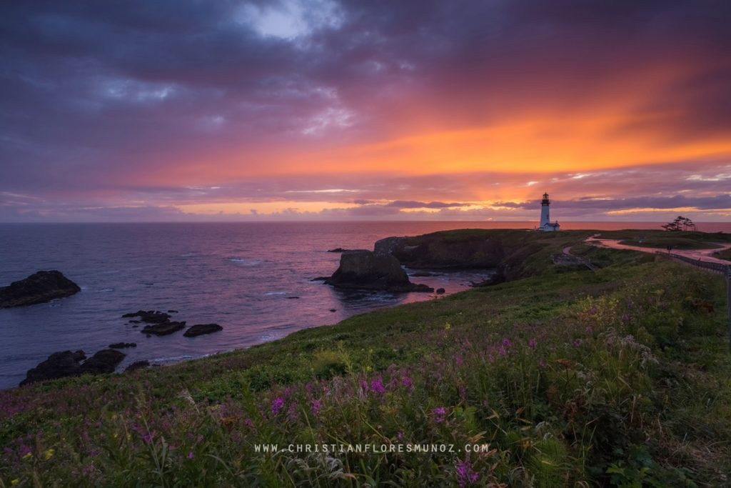 Magnificent Sunset at Yaquina Head Chris Flores-Munoz
