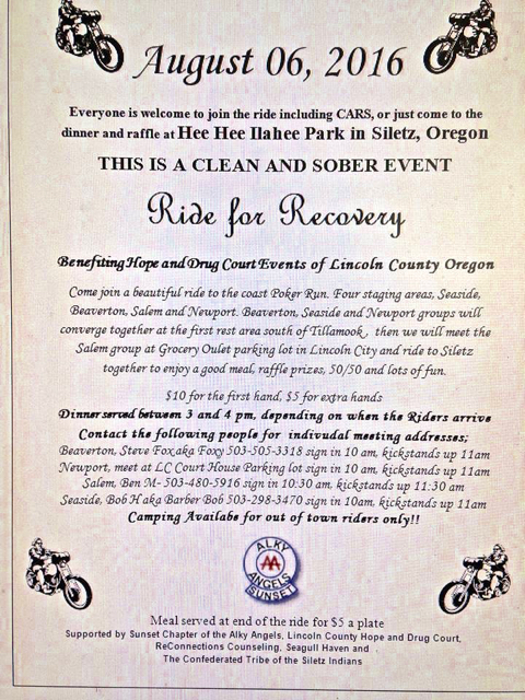 Ride for recovery