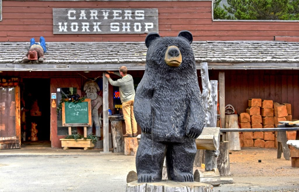 Karl Kowalski's Carver's Works Shop in Seal Rock! Ken Gagne