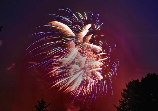 Yachats Fireworks Appropriately artistic! Ken Gagne