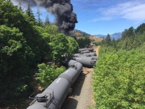 Oil train wreck, Mosier, OR The Oregonian photo