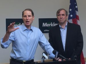 "Senators Ron Wyden (L) and Jeff Merkley (R) Pushing ""mail in"" voting for the whole country."