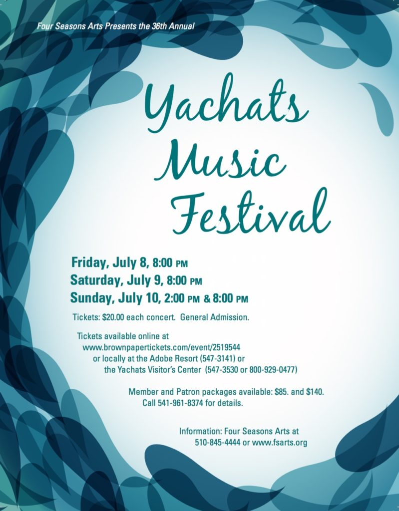 yachats music festival flyer