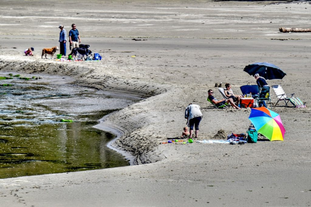 Sun's out and so is Yachats... Ken Gagne photos