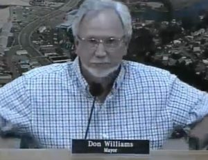 Mayor Don Williams professing to not understand his options with regard to the release the results of a private investigation of alleged wrongdoing.
