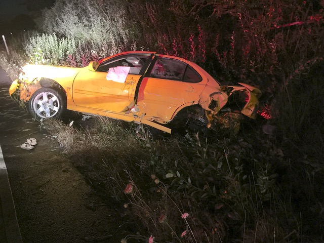Rollover accident off 101 near North Beaver Creek Road Tuesday night