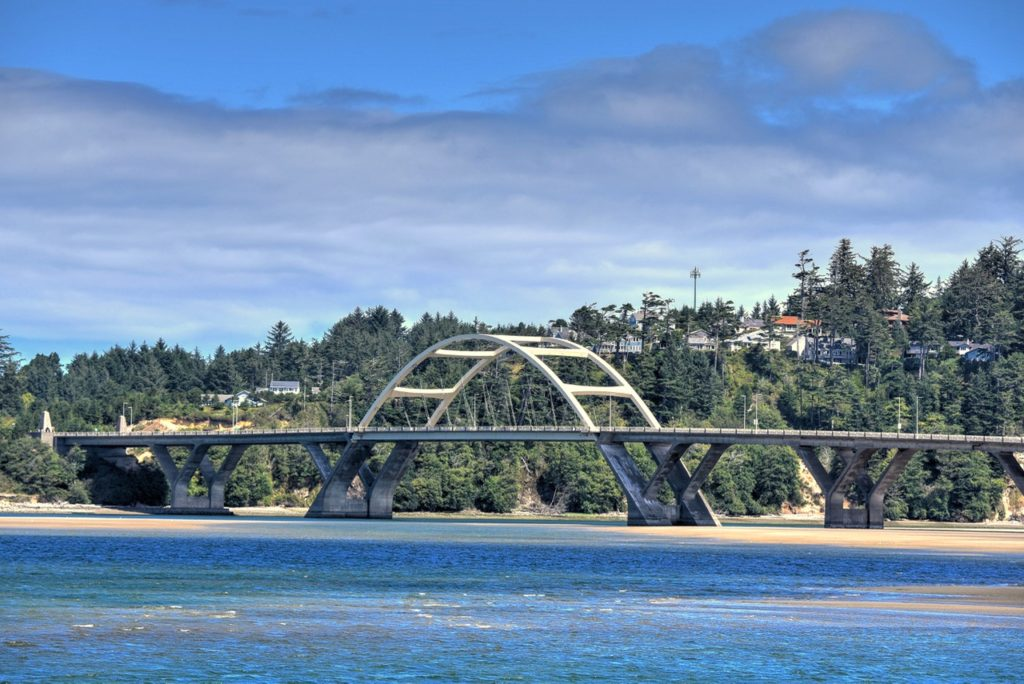 Pretty sky, pretty water and pretty bridge...Waldport all over... Ken Gagne