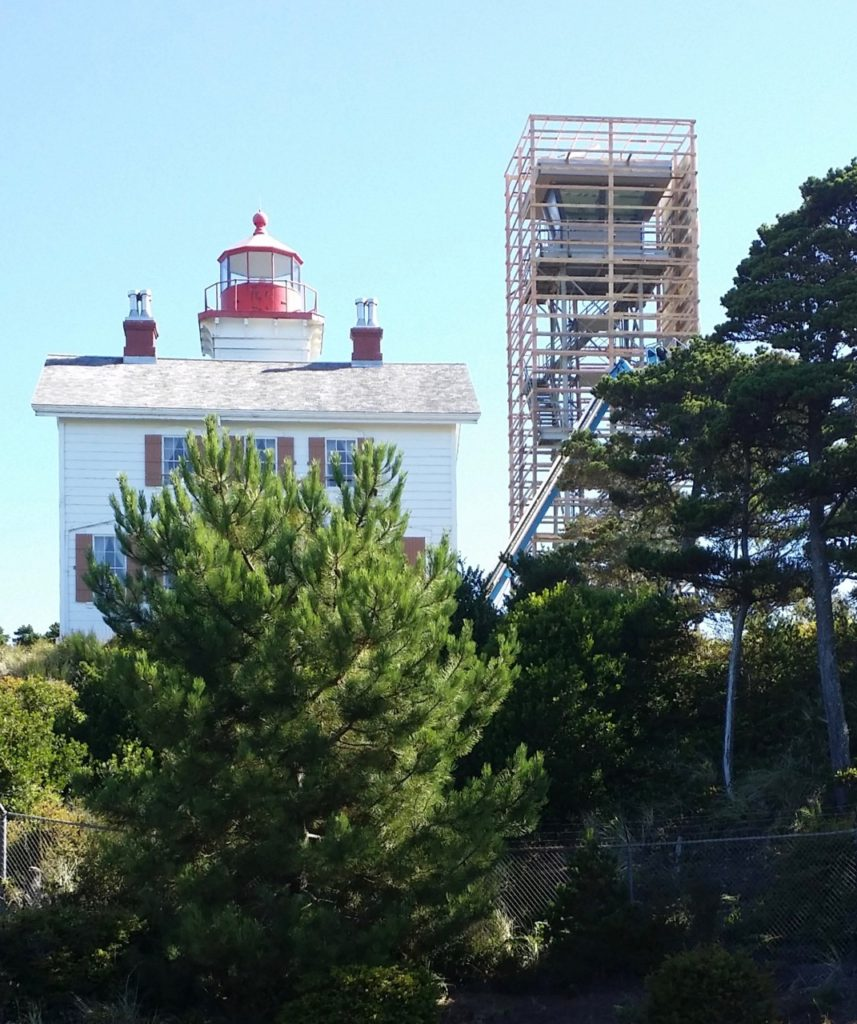 Coast Guard Observation Tower in Newport being remodeled and maybe a new coat of paint... Reader photo