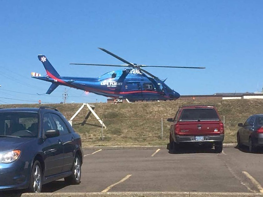 The Lifeflight helo silent on the landing pad signaled the child had passed...