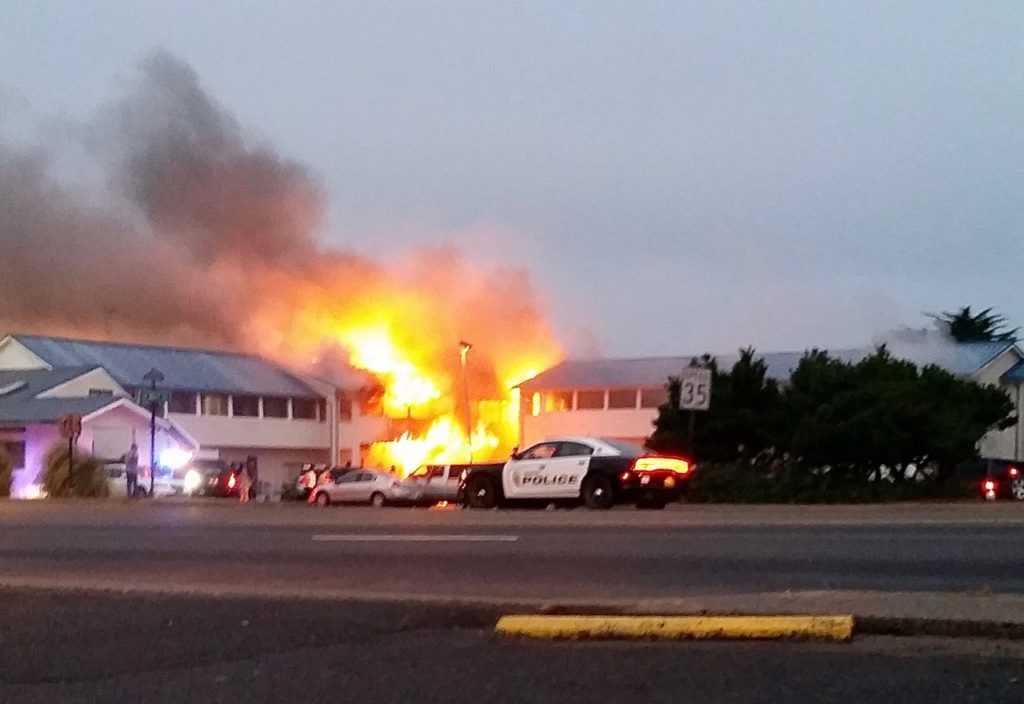 City Center Motel Fire 538 Highway 101, Newport Echo Morris