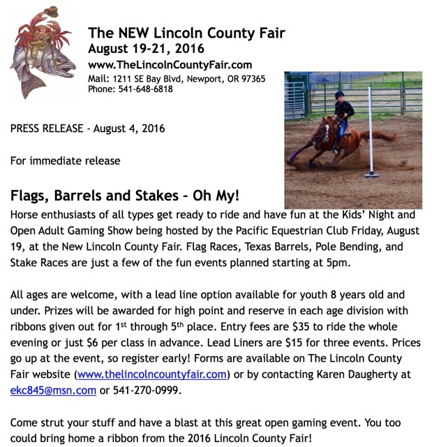 lincoln county fair poster riding