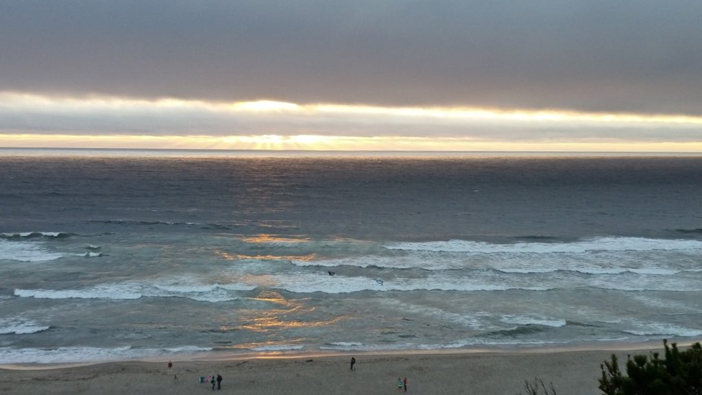 The sun battles the marine layer in who has the final say on the day. Pauline Morrison
