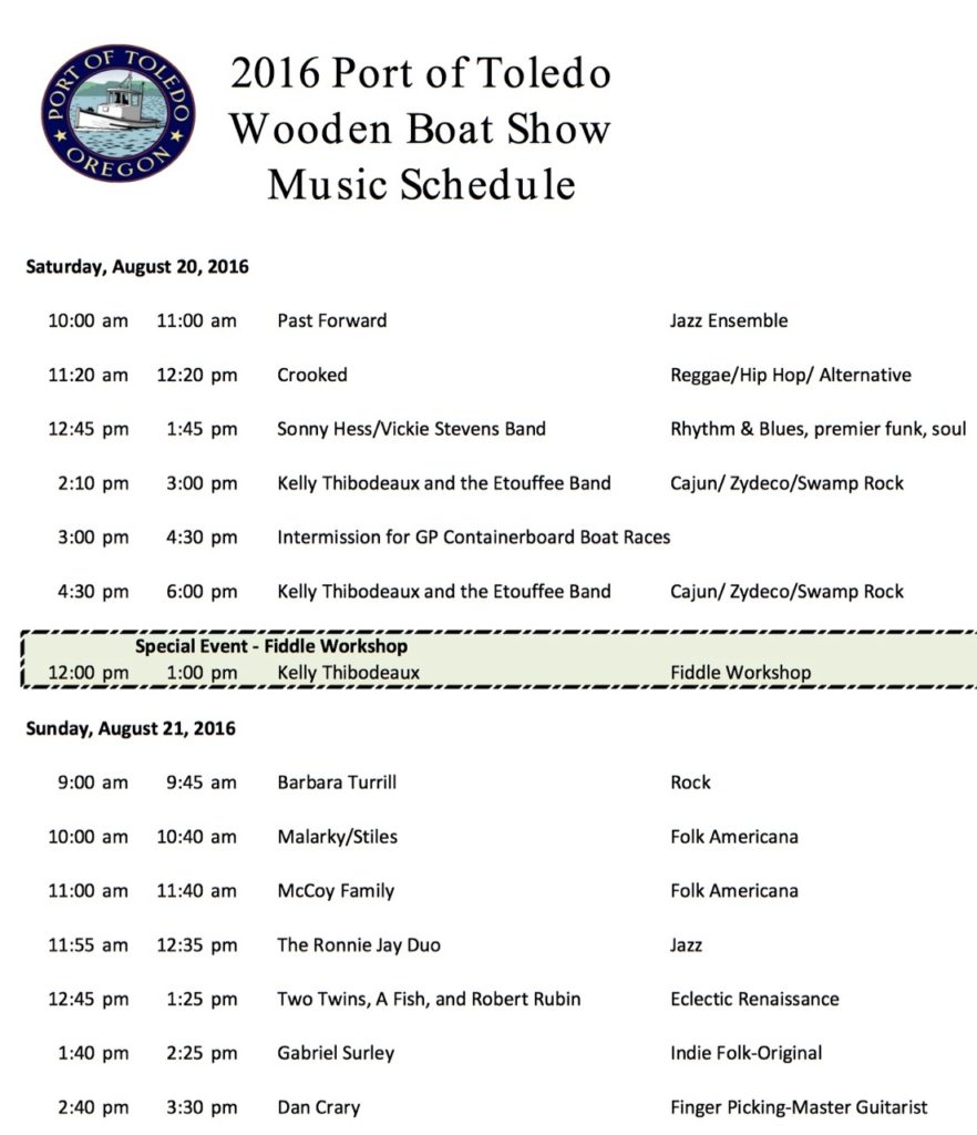 wooden boat show music