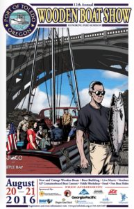 wooden boat show poster 2016