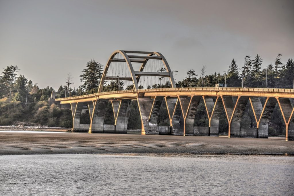 Alsea Bay Bridge Looking like it's made of copper. Ken Gagne