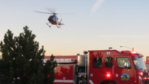 LifeFlight whisked the woman to St. Charles Bend.  Her condition was not released.  Redmond Police are investigating who was at fault.