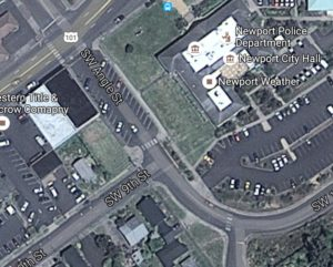 Area across Angle where Salvation Army Building once stood. Google Maps