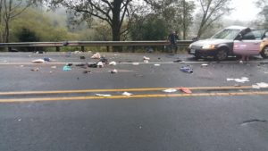 High speed collision takes two lives, seriously injures three others.