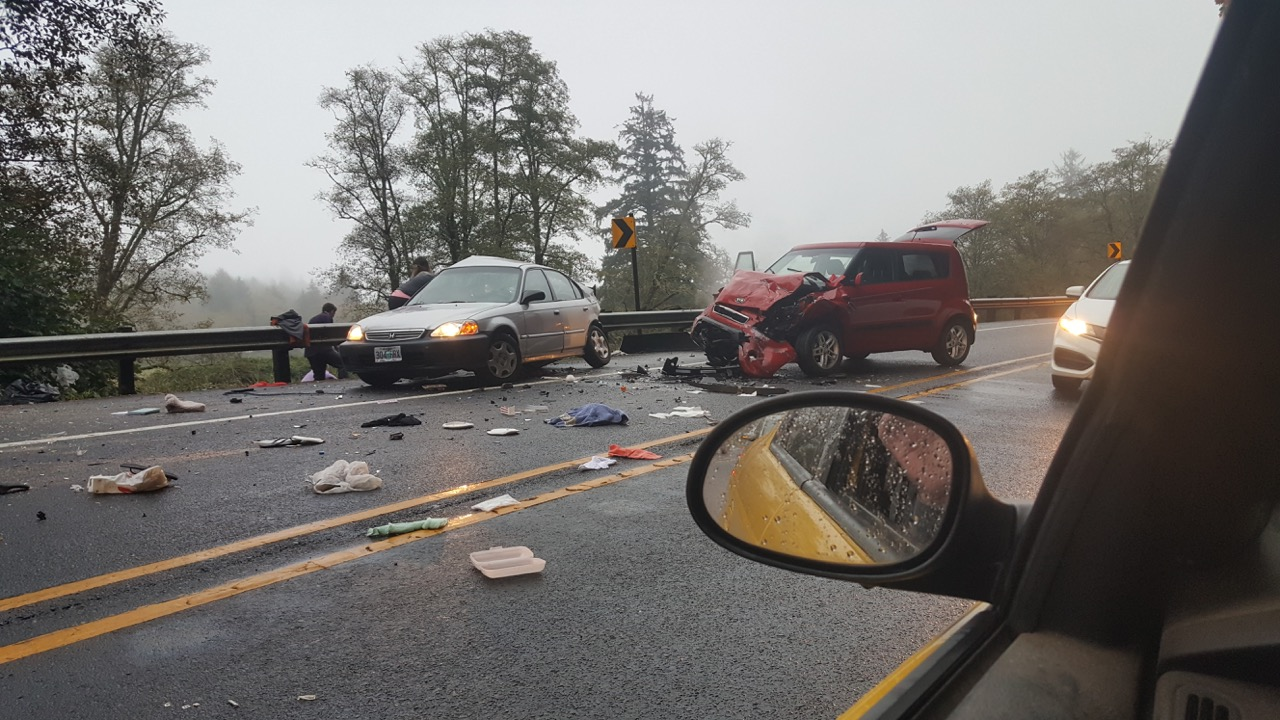 Bad accident on Hwy 18 – 1 5 miles east of Highway 101