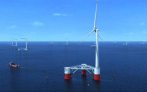 Site for offshore grid connected wind energy farm proposed.  Funding sought. Courtesy photo