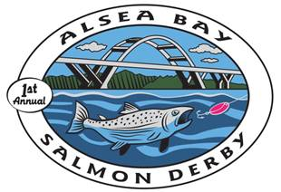Waldport chamber of commerce alsea bay salmon derby for Fishing license az walmart