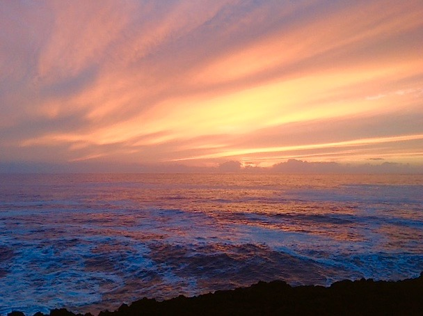 Sunset off Rocky Creek at Cape Foulweather Monday evening. Barbara Bechmann