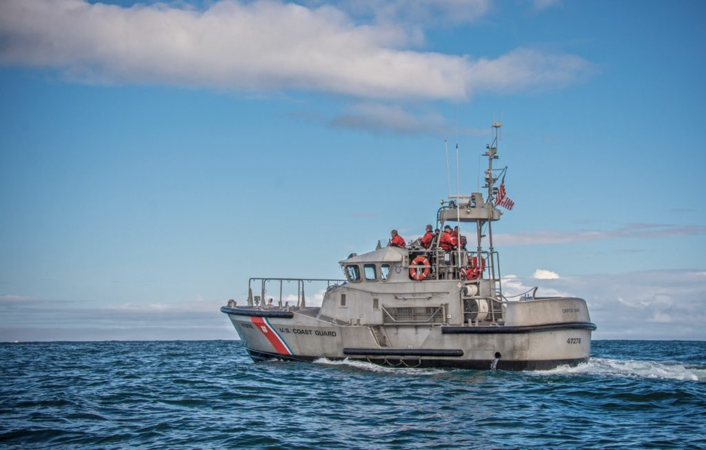 Coast Guard Depoe Bay out on a greatly deserved pleasure cruise while ready for any emergency! Donna Plummer