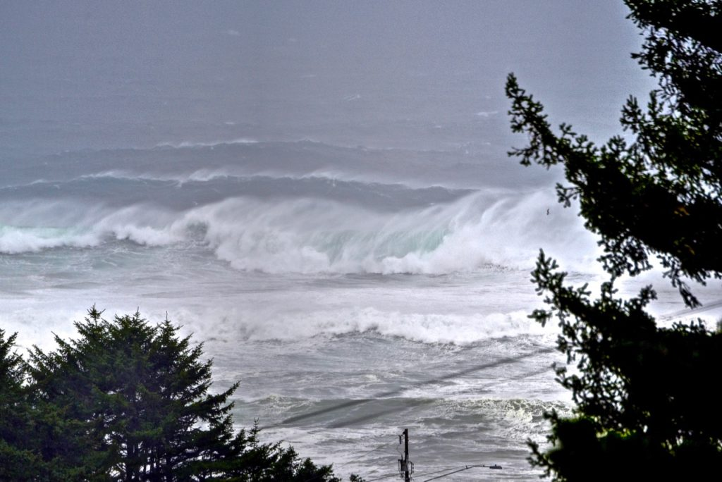 Those waves are seriously large and dangerous.   Ken Gagne photo