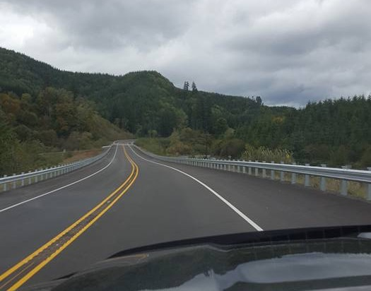 "The new section of Highway 20 west of Eddyville is now open!  But...night closures through the end of the month for ""finishing touches."" Dean Sawyer photo"