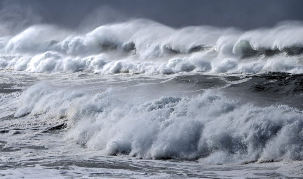 Yachats storm surf.  Death in your face. Stay off the beaches. Ken Gagne photo