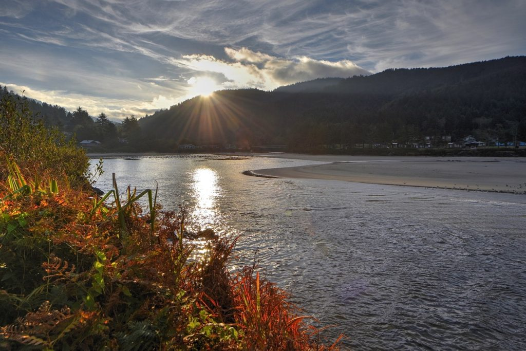 Sunrise on Yachats River Next five days it's not going to look AT ALL like this.... Ken Gagne