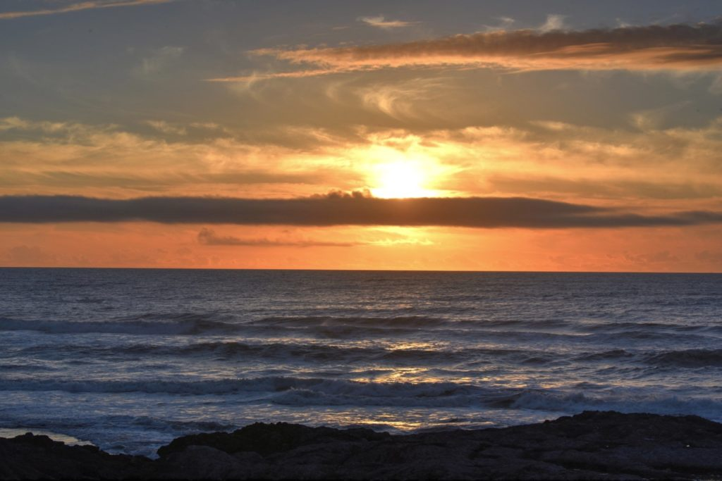 A beautiful shot to end the weekend.  Yet another Yachats sunset! Ken Gagne photo