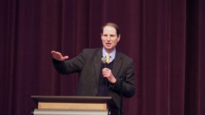 Sen. Ron Wyden D-Oregon Speaking recently at Ridgeview High in Redmond
