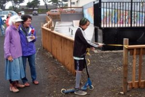 The Yachats Skate Park is finally open!