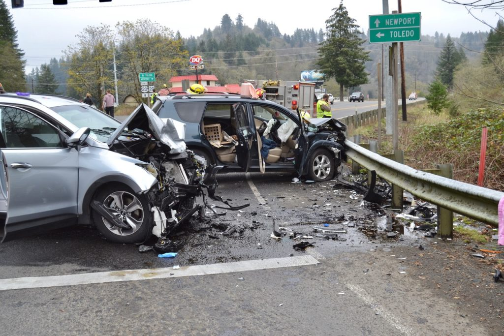 Head on crash at Highways 20 and 229.  Three serious injuries.