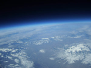 Picture from a balloon at 85,000 feet Courtesy photo
