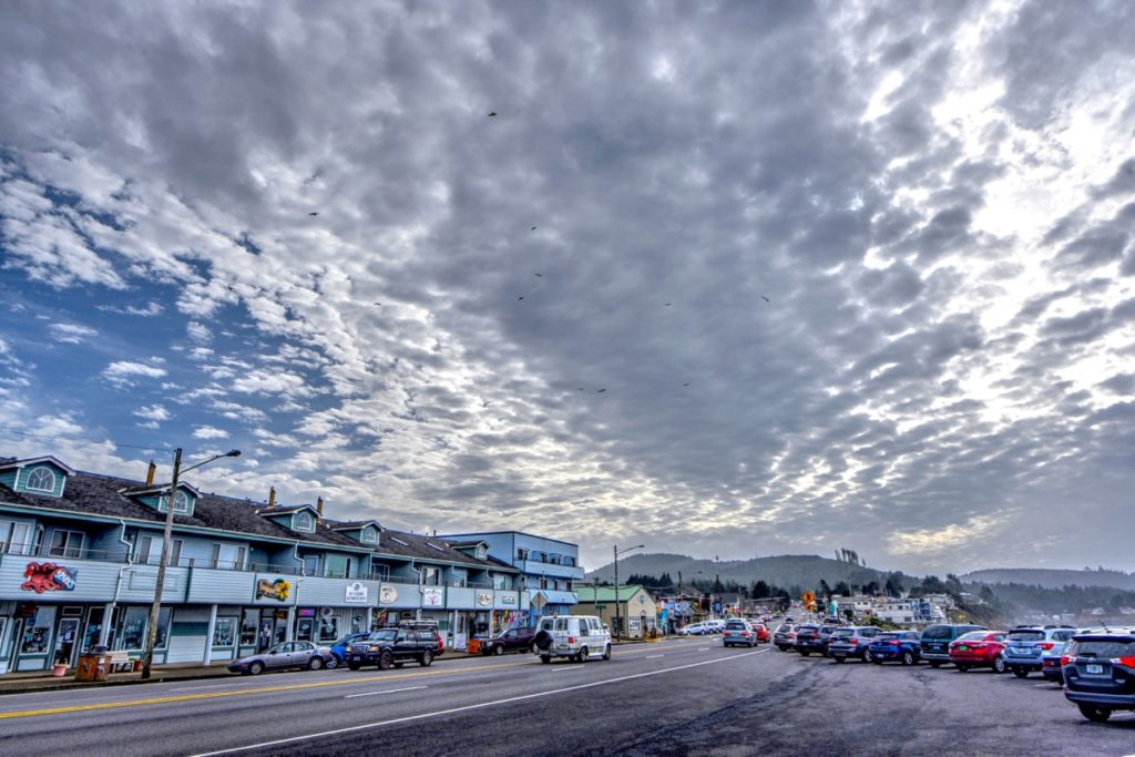 Fish Scale Skies over Depoe Bay Ken Gagne
