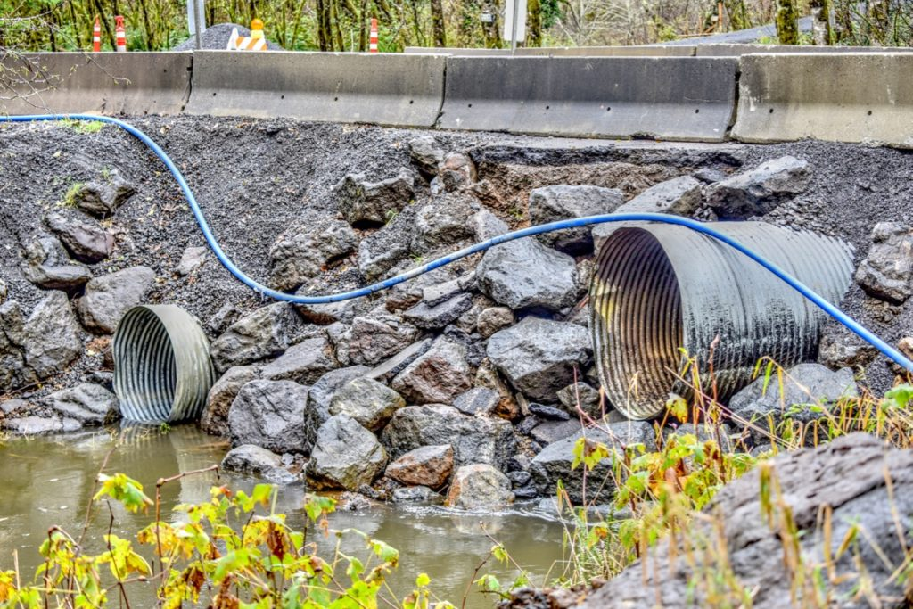 Eckman Creek crossing restored.  Put two large pipes where there used to be just one. Ken Gagne photo