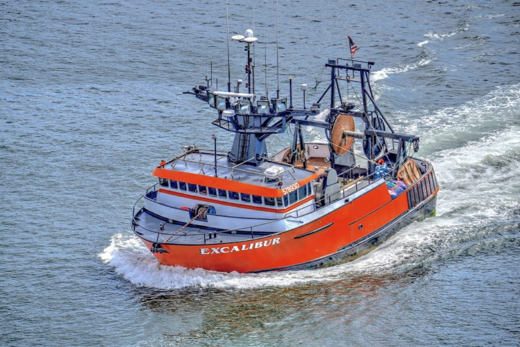F/V Excalibur Headed for Toledo Boatyard upriver