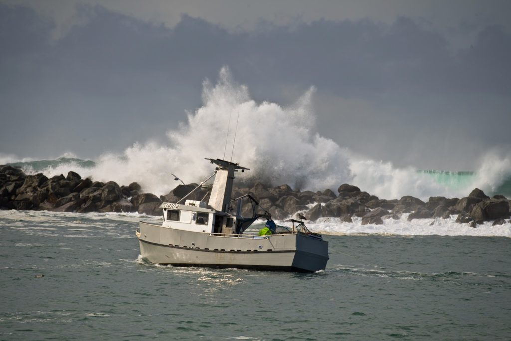 Why the coast has jettys Yaquina Bay outlet to the sea... Keith Nelson