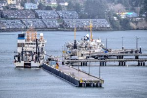 NOAA ship dock areas are silting up Ken Gagne photo