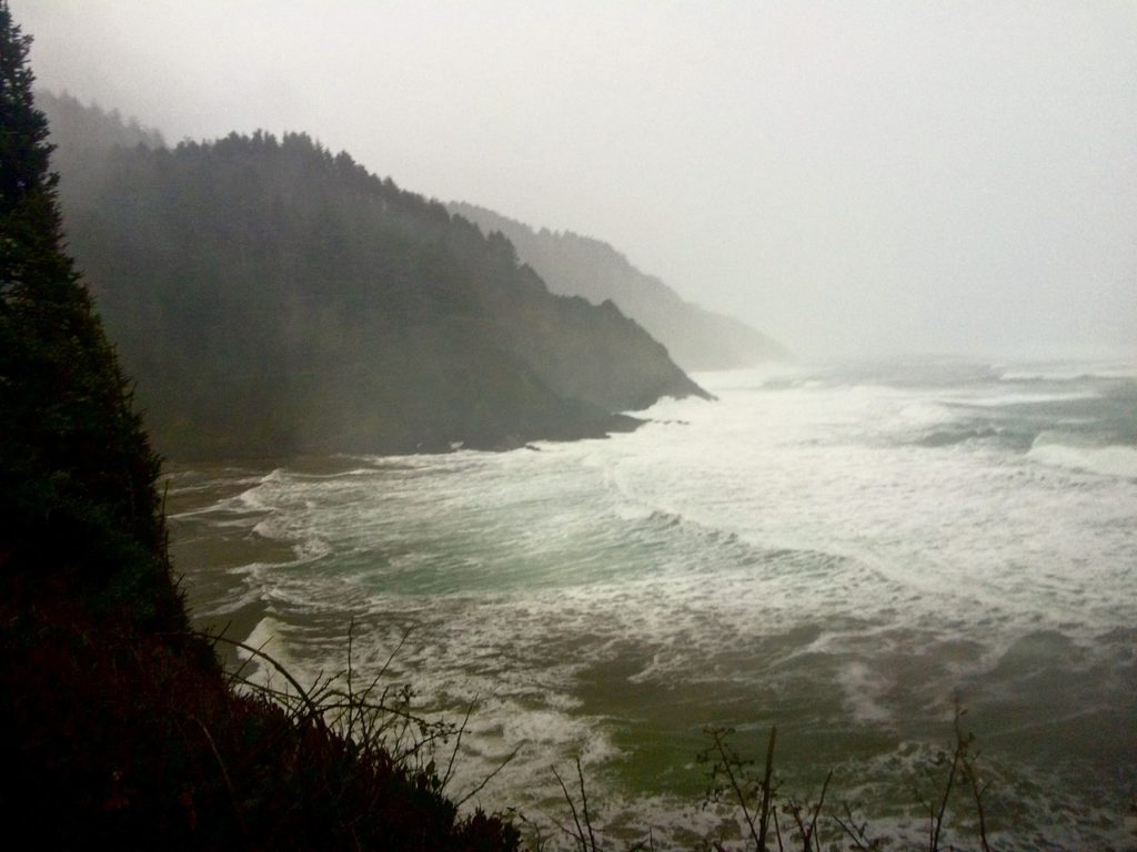 View of storm surf off Heceta Head south of Yachats. Courtesy photos Ashley Vandehey and Daniel Walker