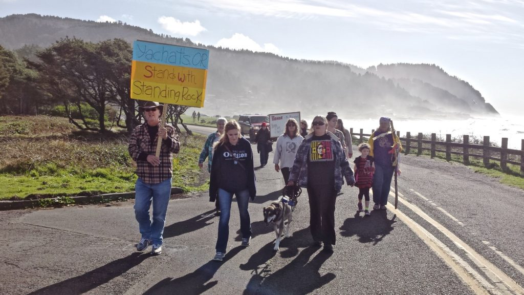 Yachats supporters of Standing Rock protest in North Dakota
