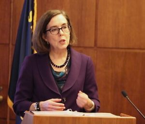 Governor Brown Specific drops in spending, specific increases in taxes and little bit of borrowing... Oregonian photo