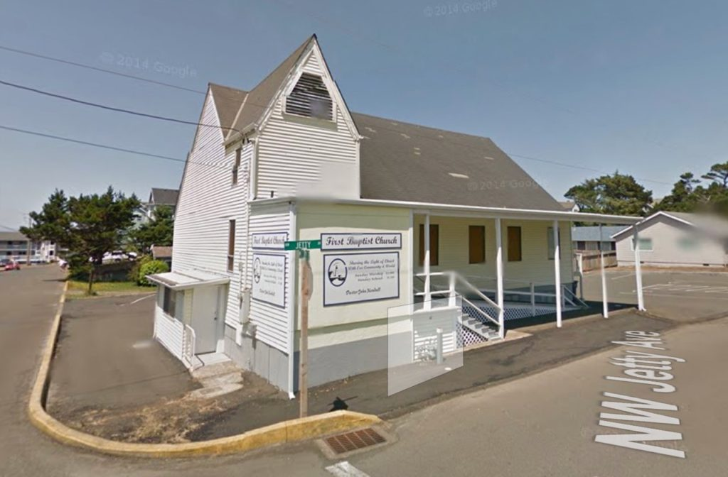 First Baptist Church at NW 17th and NW Jetty Lincoln City