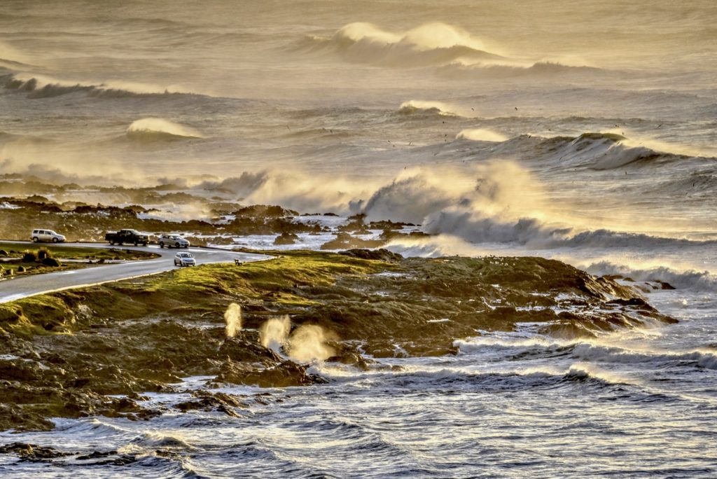 Same shot...but notice the triple Yachats Blow Holes in the foreground. Ken Gagne