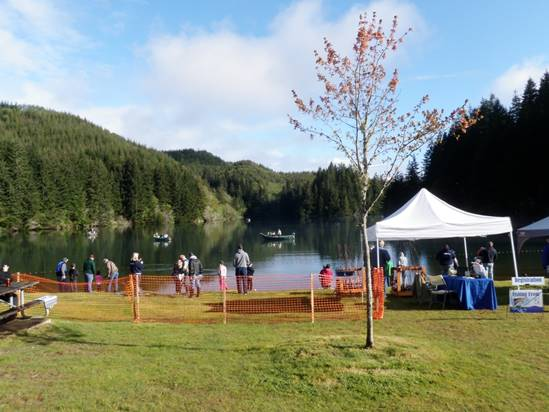 Family fishing and derby at olalla reservoir news for Oregon free fishing day 2017