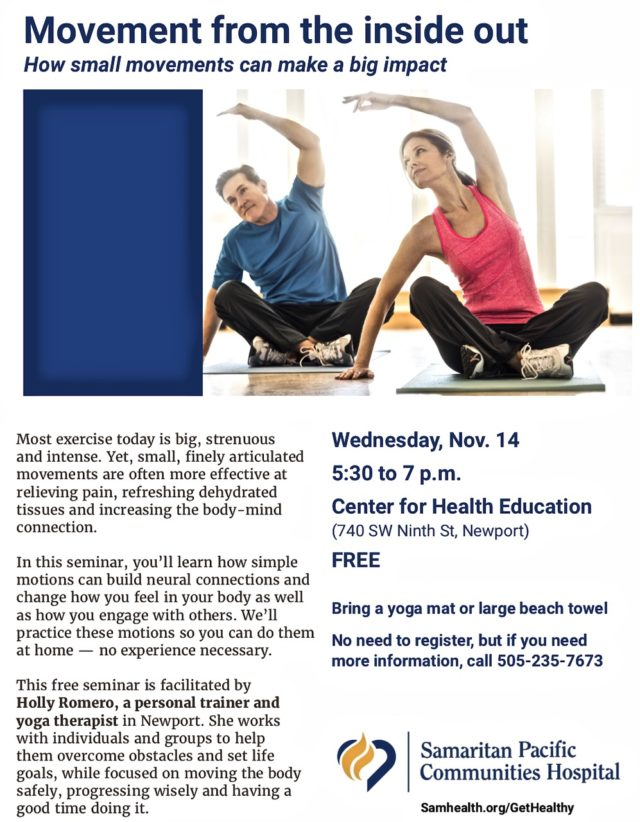 Mind-Body connection at PCH!   News Lincoln County