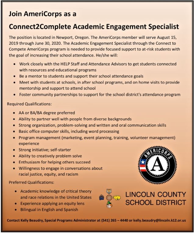 AmeriCorps VISTA wants YOU!! | News Lincoln County